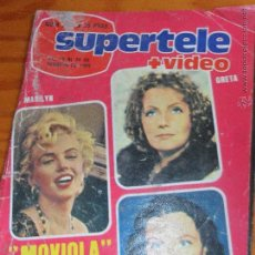 Coleccionismo de Revista Teleprograma: SUPERTELE + VIDEO Nº 230 1984 - VIENTOS DE GUERRA, MARILYN MONROE, GRETA GARBO, VIVIEN LEIGH Y MAS. Lote 52802208