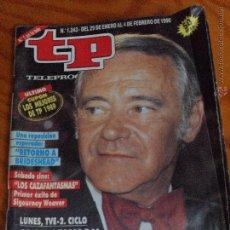 Coleccionismo de Revista Teleprograma: TP TELEPROGRAMA Nº 1243, 1990 - ARTICULO ESPECIAL: JACK LEMMON. Lote 52802645