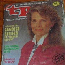 Coleccionismo de Revista Teleprograma: TP TELEPROGRAMA Nº 1240, 1990 - ARTICULO ESPECIAL: MURPHY BROWN CON CANDICE BERGEN. Lote 52802670