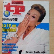 Coleccionismo de Revista Teleprograma: TP TELEPROGRAMA 1655 TELECUPÓN - CARMEN SEVILLA (1997). Lote 52973000