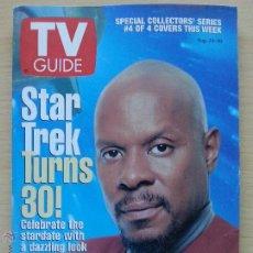Coleccionismo de Revista Teleprograma: TV GUIDE Nº2265 STAR TREK TURNS 30: AVERY BROOKS (1996) EL TELEPROGRAMA DE USA. Lote 53825196