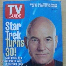 Coleccionismo de Revista Teleprograma: TV GUIDE Nº2265 STAR TREK TURNS 30: PATRICK STEWART (1996) EL TELEPROGRAMA DE USA. Lote 53825255