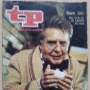 Coleccionismo de Revista Teleprograma: TP TELEPROGRAMA 541 PAPÁ GORIOT - CARLOS LEMOS (1976). Lote 54206109