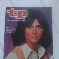 Coleccionismo de Revista Teleprograma: REVISTA TP N'719 EL REGRESO