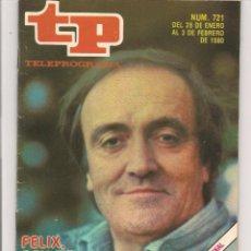 Coleccionismo de Revista Teleprograma: TP. TELEPROGRAMA. Nº 721. 3 FEBERO 1980. (P/D41). Lote 54586599