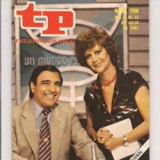 Coleccionismo de Revista Teleprograma: TP. TELEPROGRAMA. Nº 796. 12 JULIO 1981. (P/D41). Lote 54587992
