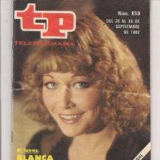 Coleccionismo de Revista Teleprograma: TP. TELEPROGRAMA. Nº 859. 28 SEPBRE. 1982. (P/D41). Lote 54590691