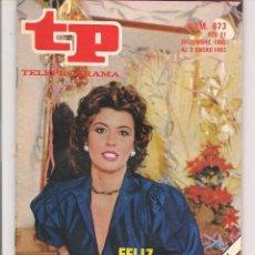 Coleccionismo de Revista Teleprograma: TP. TELEPROGRAMA. Nº 873. 2 ENERO 1983. (P/D41). Lote 54590777