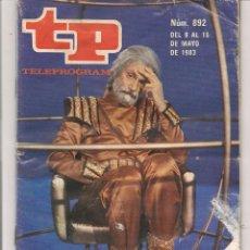 Coleccionismo de Revista Teleprograma: TP. TELEPROGRAMA. Nº 892. 15 MAYO 1983. (P/D41). Lote 54590937