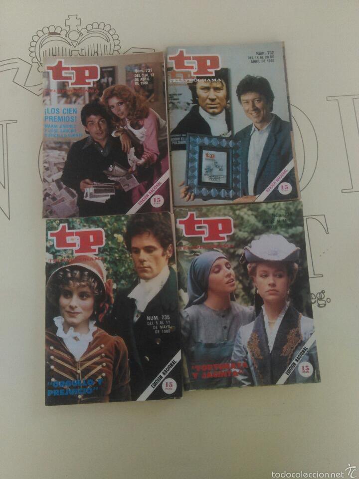 4 REVISTAS TP N'731-732-735-736. (Coleccionismo - Revistas y Periódicos Modernos (a partir de 1.940) - Revista TP ( Teleprograma ))