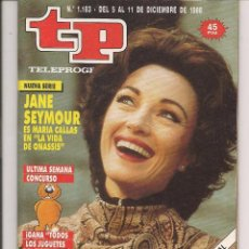 Coleccionismo de Revista Teleprograma: TP. TELEPROGRAMA. Nº 1183. JANE SEYMOUR. DEL 5 AL 11 DCBRE. 1988. (P/D41). Lote 54623085