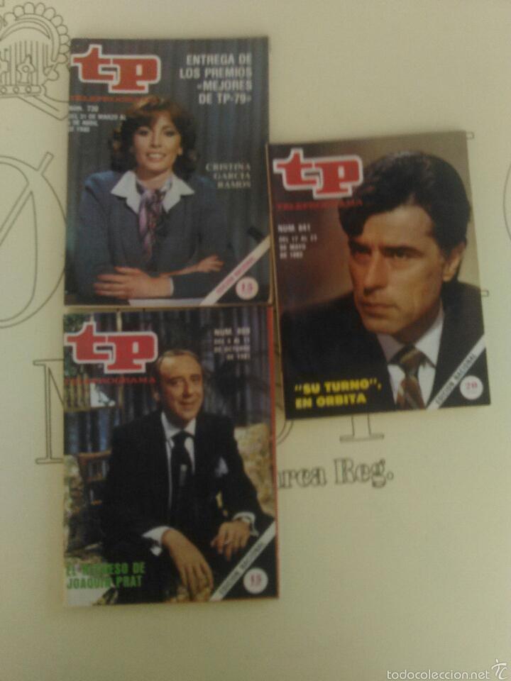 3 REVISTAS TP N'730-809-841 AÑOS 1980-81-82. (Coleccionismo - Revistas y Periódicos Modernos (a partir de 1.940) - Revista TP ( Teleprograma ))