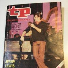 Coleccionismo de Revista Teleprograma: TELEPROGRAMA TP MAYO DEL 80 JERRY LEWIS. Lote 55127552