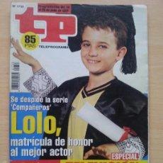 Coleccionismo de Revista Teleprograma: TP TELEPROGRAMA 1733 COMPAÑEROS - DANIEL RETUERTA (1999). Lote 56318333