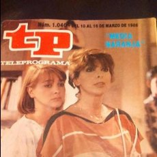 Coleccionismo de Revista Teleprograma: TP TELEPROGRAMA 1040 1986 MEDIA NARANJA . Lote 57694320