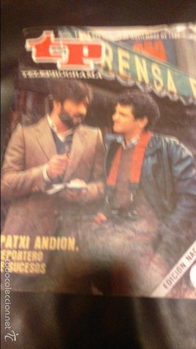 TP TELEPROGRAMA 1024 PATXI ANDION REPORTERO DE SUCESOS (Coleccionismo - Revistas y Periódicos Modernos (a partir de 1.940) - Revista TP ( Teleprograma ))