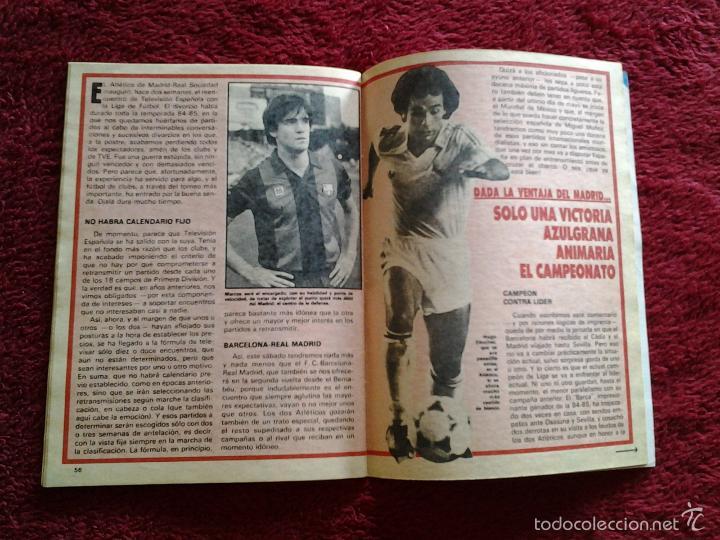 Coleccionismo de Revista Teleprograma: BARCELONA - REAL MADRID TELEPROGRAMA N. 1.022 del 4 al 10 NOVIEMBRE DE 1985 - Foto 3 - 57822142