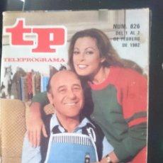 Coleccionismo de Revista Teleprograma: TP - TELEPROGRAMA - N 826 - DEL 1 AL 7 FEBRERO 1982 - DIALOGOS DE MATRIMONIO -REFM1E3. Lote 58065311