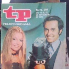Coleccionismo de Revista Teleprograma: TP - TELEPROGRAMA - N 597 - DEL 12 AL 18 SEPTIEMBRE 1977 - MUSIQUEANDO -REFM1E3. Lote 58065409