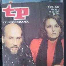Coleccionismo de Revista Teleprograma: TP - TELEPROGRAMA - N 562 - DEL 10 AL 16 ENERO 1977 - MARSILLACH Y LA SRA. GARCIA -REFM1E3. Lote 58065448