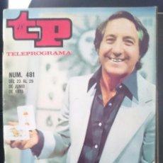 Coleccionismo de Revista Teleprograma: TP - TELEPROGRAMA - N 481 - DEL 23 AL 29 JUNIO 1975 - LOS DOMINGOS MAGIA -REFM1E3. Lote 58065468