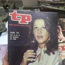 Coleccionismo de Revista Teleprograma: TP TELEPROGRAMA 751 ALICIA - LINDA LANVIN (1980). Lote 128544880