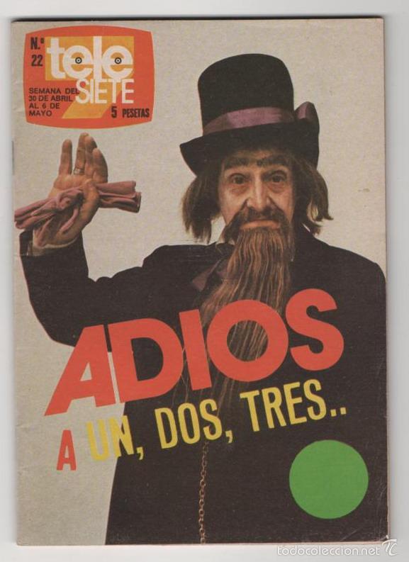 (ALB-TC-3) REVISTA TELE SIETE Nº 22 (Coleccionismo - Revistas y Periódicos Modernos (a partir de 1.940) - Revista TP ( Teleprograma ))