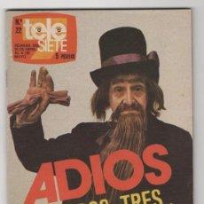Coleccionismo de Revista Teleprograma: (ALB-TC-3) REVISTA TELE SIETE Nº 22. Lote 60893419