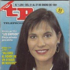 Coleccionismo de Revista Teleprograma: REVISTA TP TELEPROGRAMA Nº 1294 AÑO 1991.CONCHA GARCIA CAMPOY.. Lote 61546960