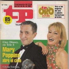 Coleccionismo de Revista Teleprograma: REVISTA TP TELEPROGRAMA Nº 1704 AÑO 1998. JAVIER SARDÁ Y ANA OBREGÓN. PRESENTARAN TP DE ORO. . Lote 61667636