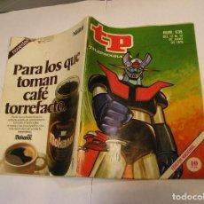 Coleccionismo de Revista Teleprograma: TP. TELEPROGRAMA. Nº 636. MAZINGER Z . 12-18 JUNIO 1978. Lote 61698960