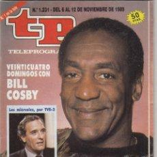 Coleccionismo de Revista Teleprograma: REVISTA TP TELEPROGRAMA Nº 1231 AÑO 1989. BILL COSBY.. Lote 61901400