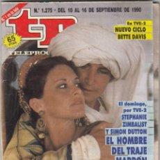 Coleccionismo de Revista Teleprograma: REVISTA TP TELEPROGRAMA Nº 1275 AÑO 1990-. S, ZIMBALIST Y S. DUTTON. EL HOMBRE DEL TRAJE MARRÓN. . Lote 62830520