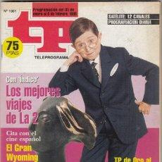 Coleccionismo de Revista Teleprograma: REVISTA TP TELEPROGRAMA Nº 1661 AÑO 1998. GALINDO. TP DE ORO PERSONAJE REVELACIÓN. . Lote 62864272