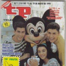Coleccionismo de Revista Teleprograma: REVISTA TP TELEPROGRAMA Nº 1310 AÑO 1991. CLUB DISNEY. . Lote 63103220
