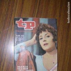 Coleccionismo de Revista Teleprograma: TP TELEPROGRAMA Nº568 AÑO 1977 MARIA MASSIP TERESA CABARRUS. Lote 63564080