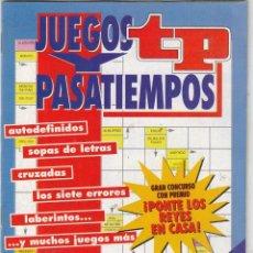 Coleccionismo de Revista Teleprograma: REVISTA TP TELEPROGRAMA JUEGOS Y PASATIEMPOS EXTRA VACACIONES DE NAVIDAD. . Lote 63890459