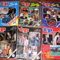 Coleccionismo de Revista Teleprograma: REVISTA TP - LO MEJOR Y LO PEOR DEL AÑO . Nº 833 - 781 - 1091 - 976 - 766 - 870 - EXTRA AÑOS 80. Lote 77559061