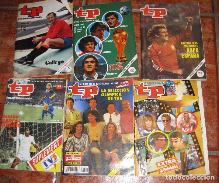 6 REVISTA TP DEPORTES - BARCELONA 92 - 2 EXTRA MUNDIAL 1982 - BARÇA MADRID 1985 - GALLEGO EUROCOPA (Coleccionismo - Revistas y Periódicos Modernos (a partir de 1.940) - Revista TP ( Teleprograma ))