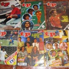 Coleccionismo de Revista Teleprograma: 6 REVISTA TP DEPORTES - BARCELONA 92 - 2 EXTRA MUNDIAL 1982 - BARÇA MADRID 1985 - GALLEGO EUROCOPA . Lote 77559997