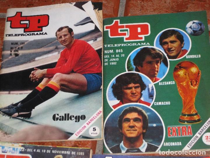 Coleccionismo de Revista Teleprograma: 6 revista tp deportes - barcelona 92 - 2 extra mundial 1982 - barça madrid 1985 - gallego eurocopa - Foto 2 - 171583579