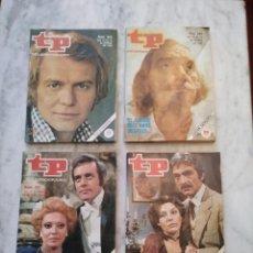 Coleccionismo de Revista Teleprograma: 4 REVISTAS TP. Lote 78218577