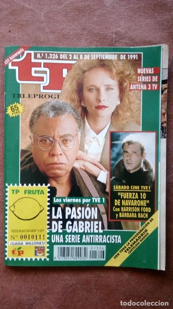 REVISTA TP - TELEPROGRAMA, Nº 1326, AÑO 1991 (Coleccionismo - Revistas y Periódicos Modernos (a partir de 1.940) - Revista TP ( Teleprograma ))