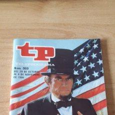Coleccionismo de Revista Teleprograma: REVISTA TP - TELEPROGRAMA Nº 969 - GREGORY PECK EN AZULES Y GRISES - EDICION MADRID. Lote 80476721