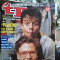 Coleccionismo de Revista Teleprograma: TP TELEPROGRAMA - AÑO 1989 N 1209 - PLASTIC . GILDA EROTISMO EN SATEN NEGRO ... Lote 80909700