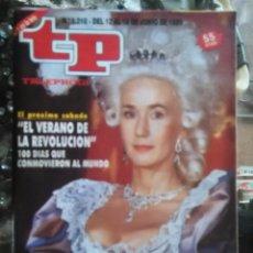 Coleccionismo de Revista Teleprograma: TP TELEPROGRAMA - AÑO 1989 N 1210 - EL VERANO DE LA REVOLUCION .... Lote 80909816