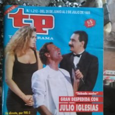Coleccionismo de Revista Teleprograma: TP TELEPROGRAMA - AÑO 1989 N 1212 - JULIO IGLESIA , BIBI ANDERSON CARLOS HERRERA ... Lote 80909932