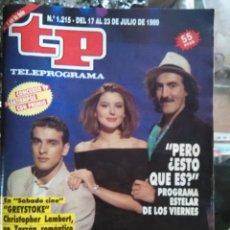 Coleccionismo de Revista Teleprograma: TP TELEPROGRAMA - AÑO 1989 N 1215 - PEDRO REYES , BEATRIZ SANTANA LUIS MERLO ..... Lote 80910056