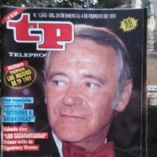 Coleccionismo de Revista Teleprograma: TP TELEPROGRAMA - AÑO 1990 N 1243 - JACK LEMMON , CAZAFANTASMAS, RETORNO A BRIDESHEAD .... Lote 80910212