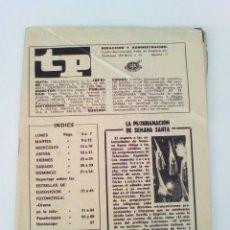 Collezionismo di Rivista Teleprograma: TP. TELEPROGRAMA REVISTA PROGRAMACIÓN TVE. AÑO 1969 N°156. Lote 83614498